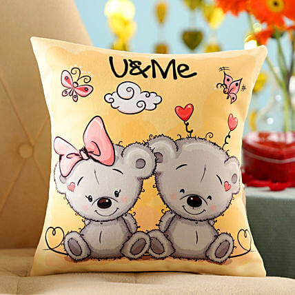 U And Me Cushion: Send Valentines Day Gifts to Argentina