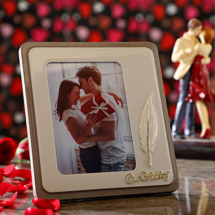 Classy Leaf Personalised Photo Frame: