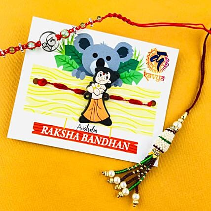 Ik Onkar Chota Bheem And Lumba Rakhi Set: