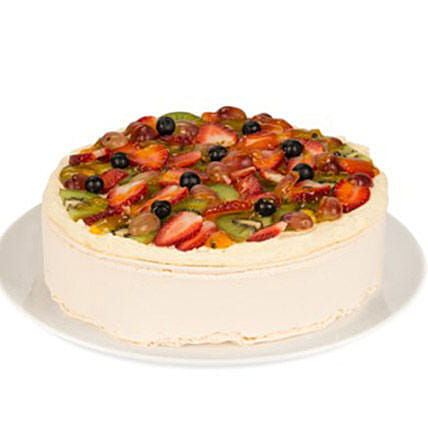 Sizzling White Fresh Fruit Cake: Valentine's Day Cake Delivery in Australia