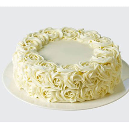 White Rose Cake: Cake Delivery In Adelaide