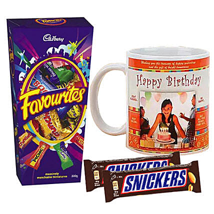 Birthday Personalised Mug And Chocolates: Personalised Mugs to Australia