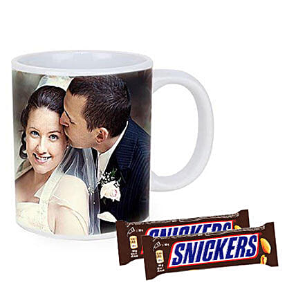 Snickers With Personalised Mug Combo: Personalised Gifts to Australia