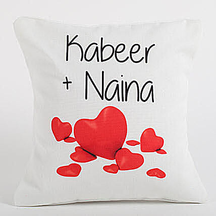 Couple Love Forever Personalized Cushion: Personalised Gifts to Australia