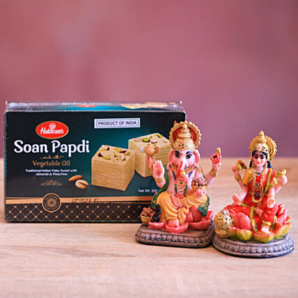 Soan Papdi And God Idols Diwali Combo: Send Diwali Gifts to Brisbane