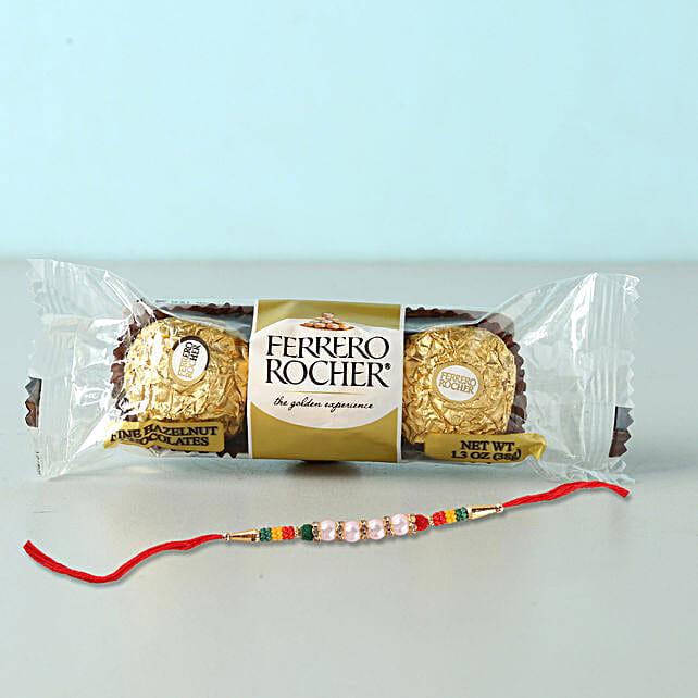 Rocher Special Beads Rakhi Combo: Send Single Rakhi To Bahrain