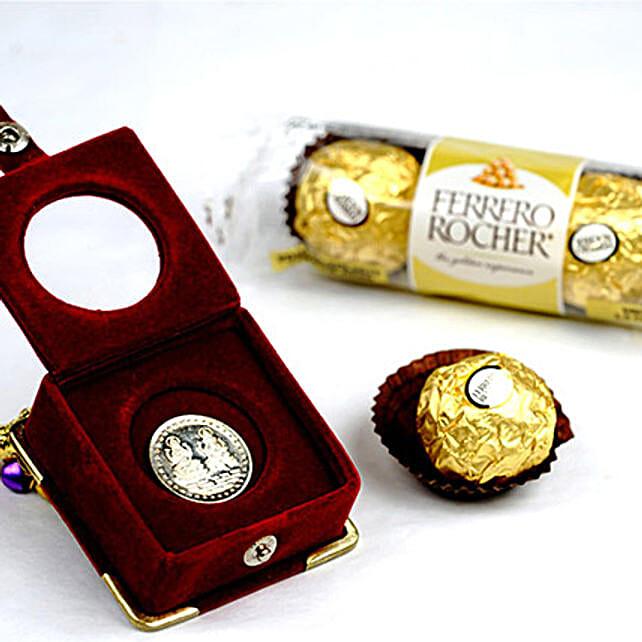 3 Ferrero Rocher And Silver Coin: Send Birthday Chocolates to Canada