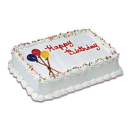 Birthday Special Vanilla Cake 1 Kg: Send Birthday Cakes to Canada