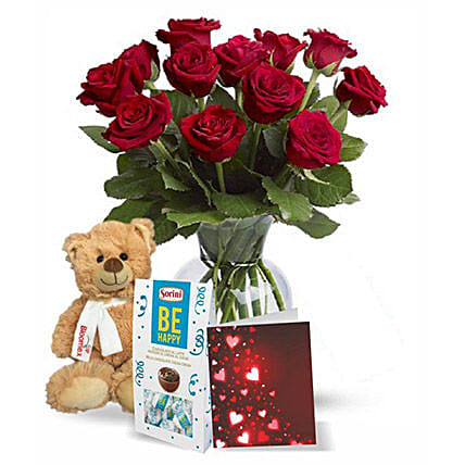 Chocolatey Teddy: Valentine Gift Combo to Canada
