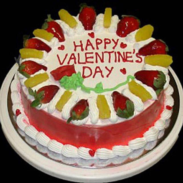 Eggless Valentine Fruit Cake: