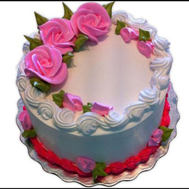 Eggless Vanilla Cake: