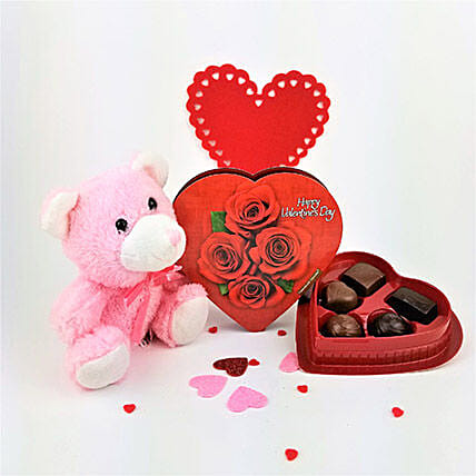 Elmer Teddy N Chocolate Treat: Send Propose Day Gifts in Canada