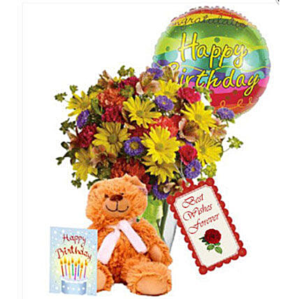 Special Birthday Combo: Send Mixed Flowers to Canada