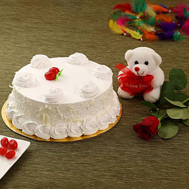 Vanilla Cake Combo: Anniversary Cakes in Canada