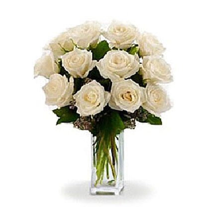 White Roses: Gifts for Friend in Canada