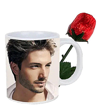 Choco Rose and Personalized Mug Combo: Valentine's Day Chocolates in Canada