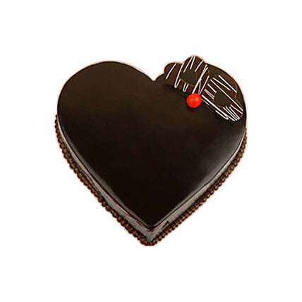 Heartshape Chocolate Cake 1KG: Valentines Day Cake Delivery in Canada