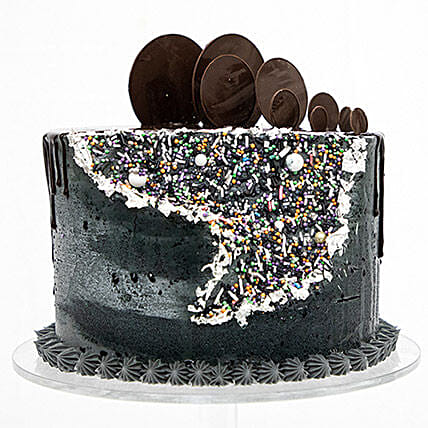 Flower Cake In Black Velvet Cut Out: