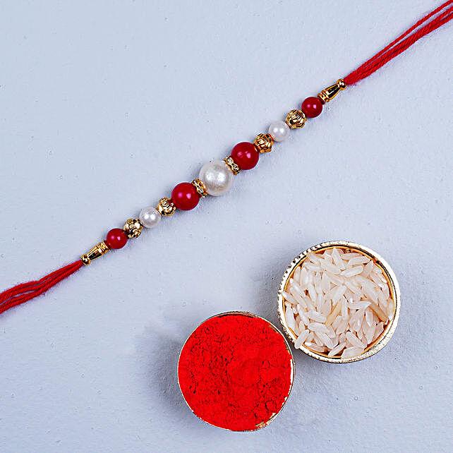 Fancy Red Thread Rakhi: Send Rakhi to Canada