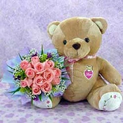 Bear n Flower CIN: Thanks Gift Delivery in China