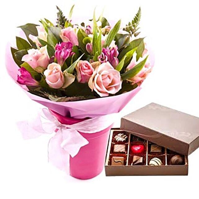 Flowers N Chocolates Combo: