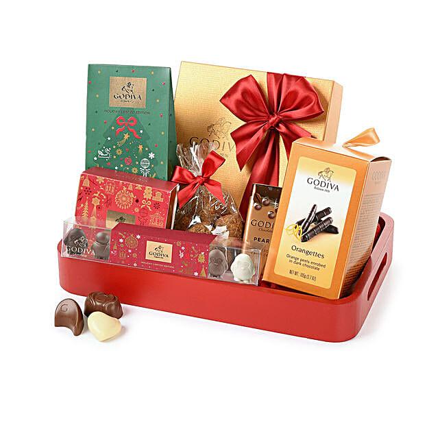 Godiva Christmas Chocolate Tray: