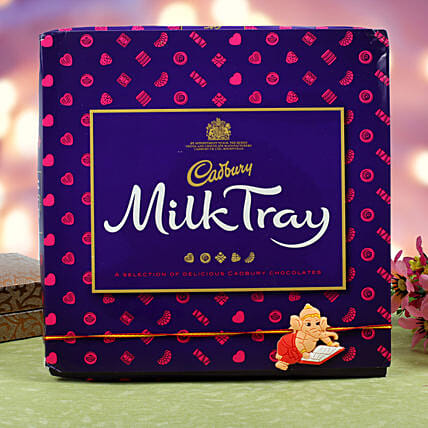 Kids Rakhi Cadbury Milk Chocolate Hamper: Rakhi for Kids in Denmark