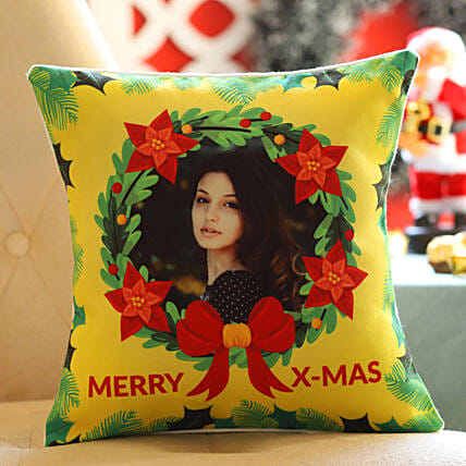 Personalised Xmas Wishes For Her Cushion: Send Christmas Gifts to Denmark
