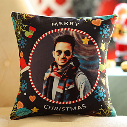 Personalised Xmas Wishes For Him Cushion: Send Christmas Gifts to Denmark