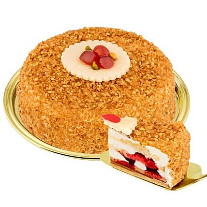 Dessert Hazelnut Brittle Cake: Birthday Gift Delivery Germany