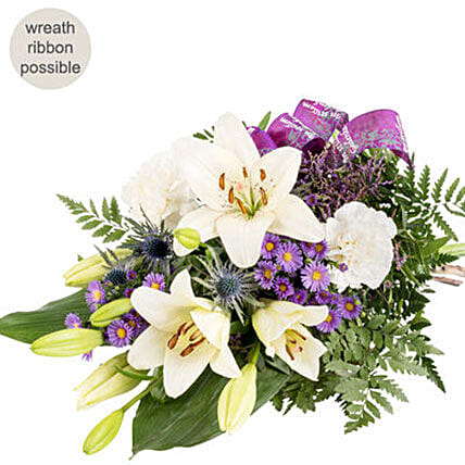 Pastel Colored Bunch Of Flowers: Send Lilies to Germany