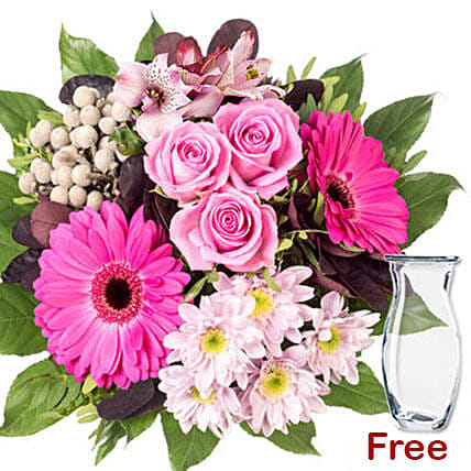 Bouquet Of Beautiful Pastel Colored Flowers: Send Congratulations Flowers to Germany
