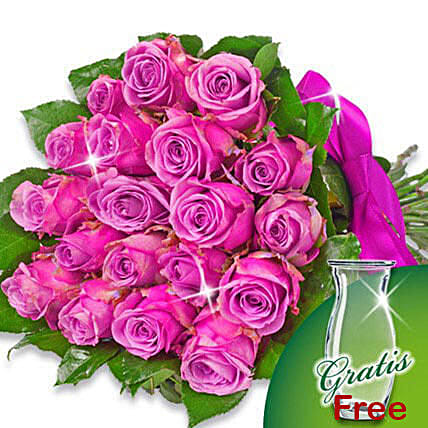 Bunch of 20 purple roses: Send Miss You Flowers to Germany