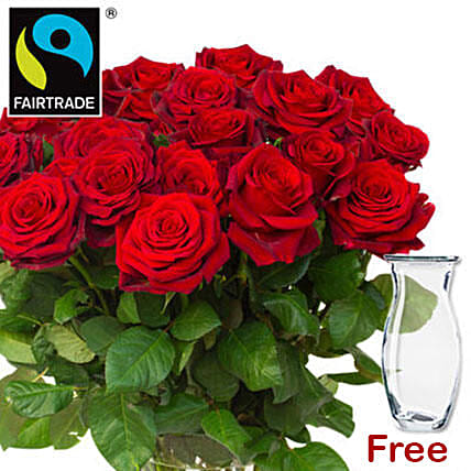 Bunch Of Romantic Red Roses: Send Miss You Flowers to Germany