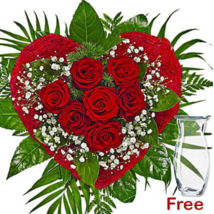 Romantic Rose Arrangement: Send Miss You Flowers to Germany