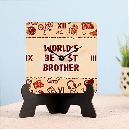 World Best Brother Table Clock: Bhai Dooj Gifts in Germany