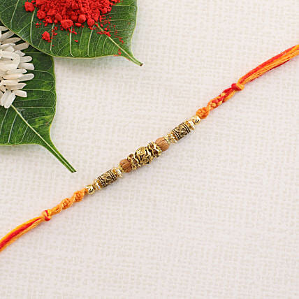 Designer Crafted Rakhi Thread: Single Rakhi to Hungary