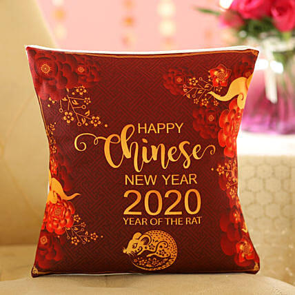 Chinese New Year Greetings Cushion: Send Chinese New Year Gifts to Indonesia