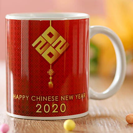 Chinese New Year Greetings Mug: Send Chinese New Year Gifts to Indonesia