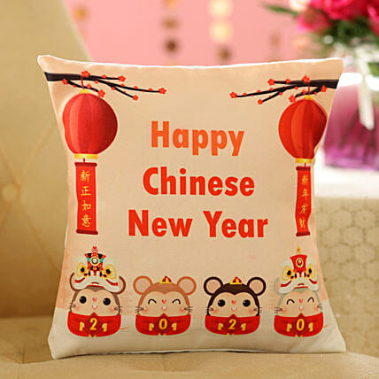 Year Of The Rat Cushion: Send Chinese New Year Gifts to Indonesia
