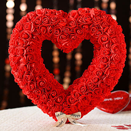Heart Shaped Decor Item: Send Valentines Day Gifts to Indonesia