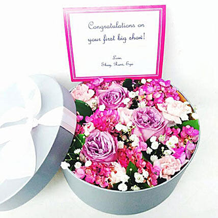 Petite Flower Box Arrangement: Valentine's Day Gifts to Indonesia