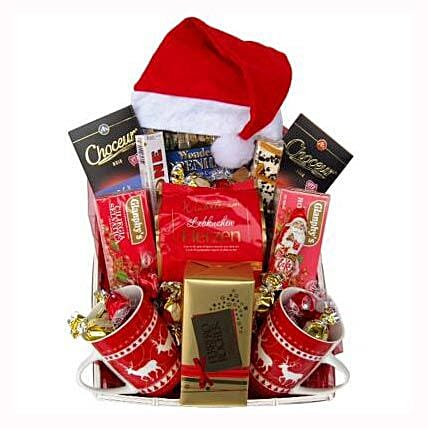 Santa Christmas Tea Basket: Send Gifts to Ireland