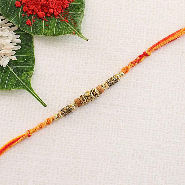 Designer Crafted Rakhi Thread: Single Rakhi to Italy