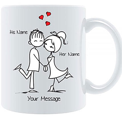 Couple In Love Personalized Mug: Send Corporate Gifts to Kuwait