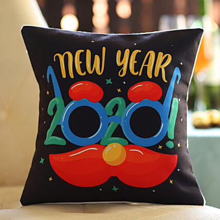 New Year Party Printed Cushion: New Year Gift Delivery in Kuwait