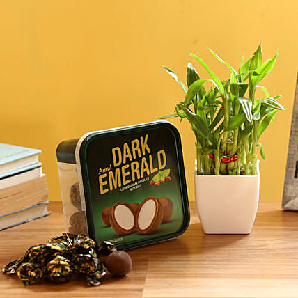 2 Layer Bamboo & Amul Emerald Chocolate: Feng Shui Gifts