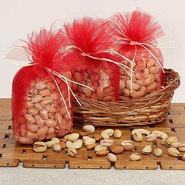 Basket Of Dry Fruits: Bhai Dooj Gift Hampers
