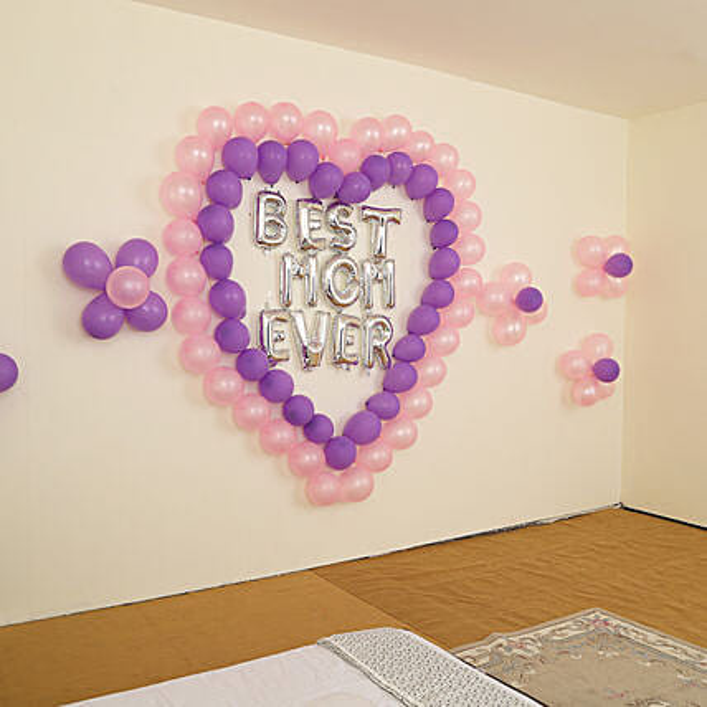 Beautiful Best Mom Ever Balloon Decor Decorations