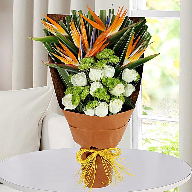 Bird Of Paradise Bunch: Premium Roses